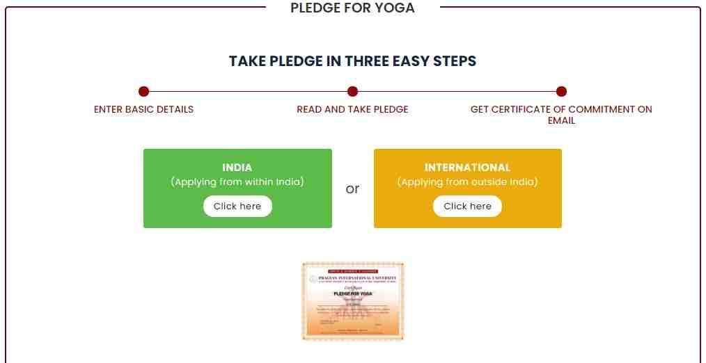Free Yoga Certificate download 2021